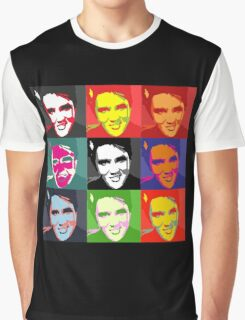 faces of Elvis Graphic T-Shirt