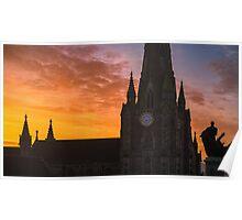 Sunrise over St Martin in the Bull Ring & Horatio Nelson Poster