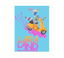Lara Land - Raccoon Rampage Art Print
