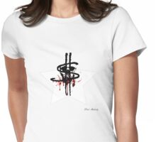 BLOOD MONEY SKULL Womens Fitted T-Shirt