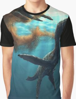 Krill feeding plesiosaurs Graphic T-Shirt