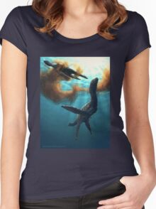 Krill feeding plesiosaurs Women's Fitted Scoop T-Shirt