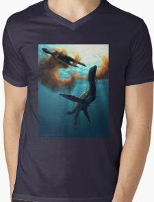 Krill feeding plesiosaurs Mens V-Neck T-Shirt
