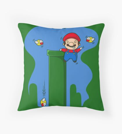 Stay away from my pipes  Throw Pillow