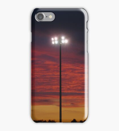 Floodlight At Sunset iPhone Case/Skin