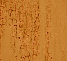 Yellow paint on wood background by homydesign