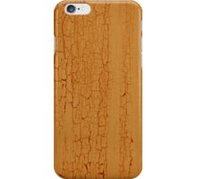 Yellow paint on wood background iPhone Case/Skin