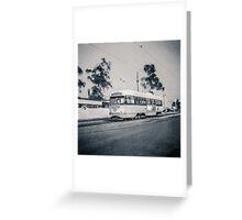 Vintage Streetcar Trolley 4038 Greeting Card