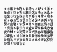 all pokemon sprites 1st generation by ferteban