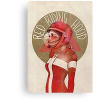 Cosmic red riding hood Canvas Print