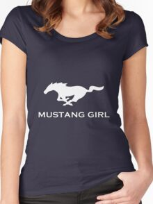 Mustang Girl Women's Fitted Scoop T-Shirt