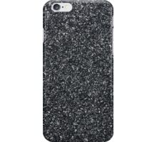 Closeup of dark grey granite  iPhone Case/Skin