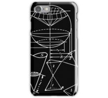 Vintage Math Diagrams - white on black iPhone Case/Skin