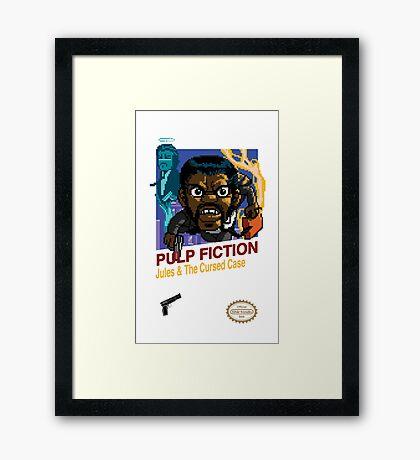 Pulp Fiction: 8 Bit Style Framed Print