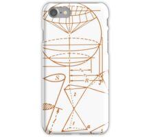 Vintage Math Diagrams - sepia iPhone Case/Skin