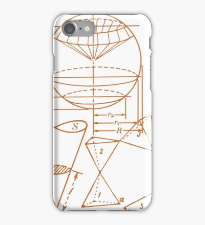 Vintage Math Diagrams - sepia iPhone Case/Skin