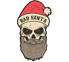 bad santa. Santa skull by kotliar