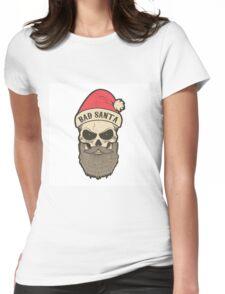 bad santa. Santa skull Womens Fitted T-Shirt