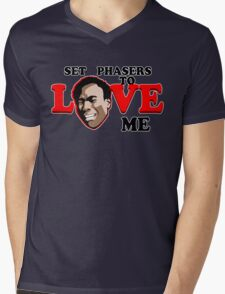 Set Phasers to Love Mens V-Neck T-Shirt