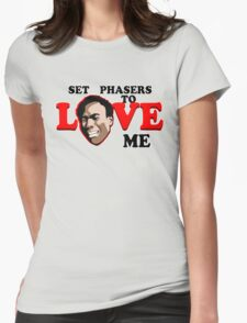 Set Phasers to Love Womens Fitted T-Shirt