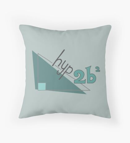 Hyp 2b(squared) - green Throw Pillow