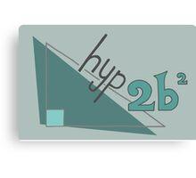 Hyp 2b(squared) - green Canvas Print