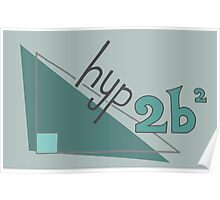 Hyp 2b(squared) - green Poster