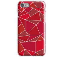 Triangular abstract red iPhone Case/Skin