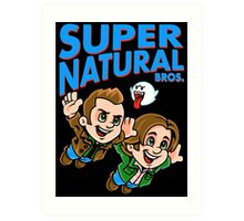 Super Natural Bros Art Print
