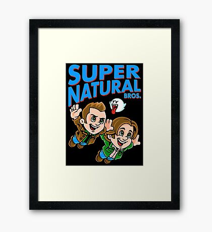 Super Natural Bros Framed Print