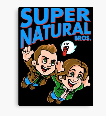 Super Natural Bros Canvas Print