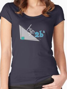 Hyp 2b(squared) - blue Women's Fitted Scoop T-Shirt