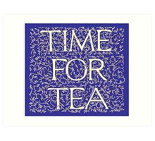 Time For Tea (Royal Blue) Art Print