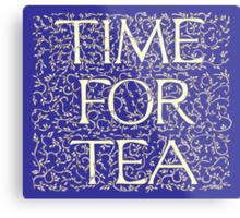Time For Tea (Royal Blue) Metal Print