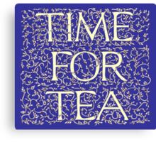 Time For Tea (Royal Blue) Canvas Print