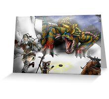 Monster Hunter Tigrex Greeting Card