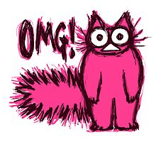 OMG CAT by nekomeandon