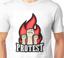 raised fist held in protest Unisex T-Shirt