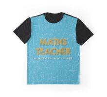 Maths Teacher (no problem too big or too small) - blue Graphic T-Shirt