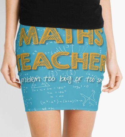 Maths Teacher (no problem too big or too small) - blue Mini Skirt