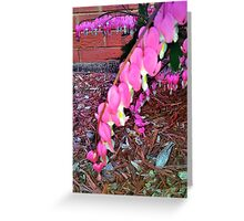 Heart shaped flowers Greeting Card