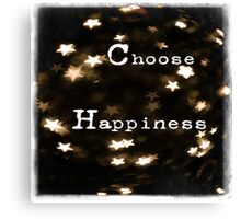 Typography - Choose Happiness Canvas Print