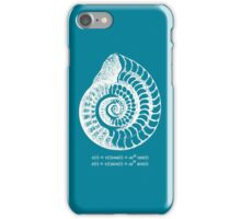 Spiral Shell with Math (blue) iPhone Case/Skin