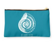 Spiral Shell with Math (blue) Studio Pouch