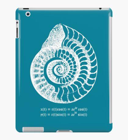Spiral Shell with Math (blue) iPad Case/Skin