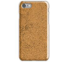 Natural brown leather iPhone Case/Skin