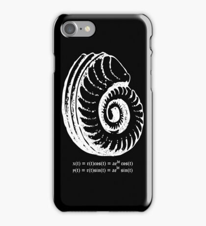 Spiral Shell with Math (white) iPhone Case/Skin