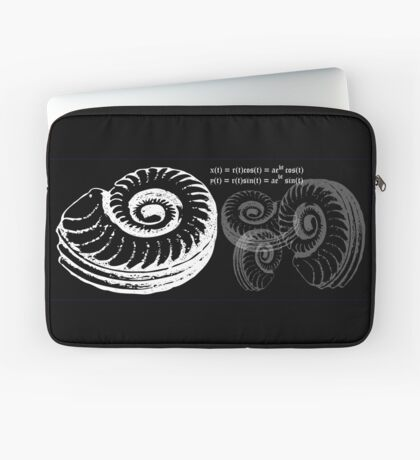 Spiral Shell with Math (white) Laptop Sleeve