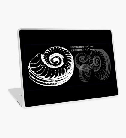 Spiral Shell with Math (white) Laptop Skin