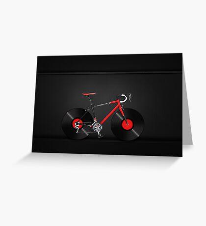 Vinyl Ride Record Bike Greeting Card